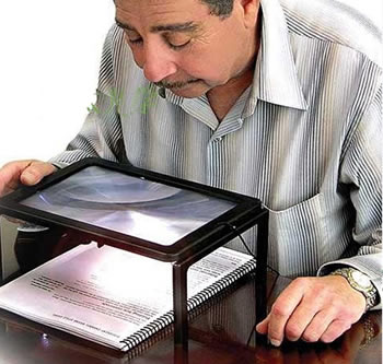 A4 Size Desktop Magnifying Glass With Led Light